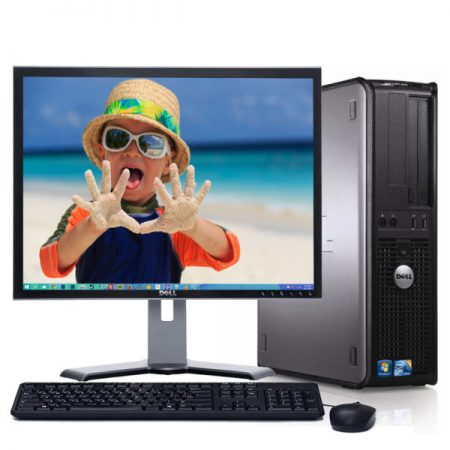 Dell Optiplex 780 Desktop Core2 Duo 3.0 GHZ 2GB 160GB Complete System With Dell 19″ Normal TFT